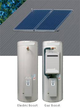 beasley solar hot water split system gas electric boosted