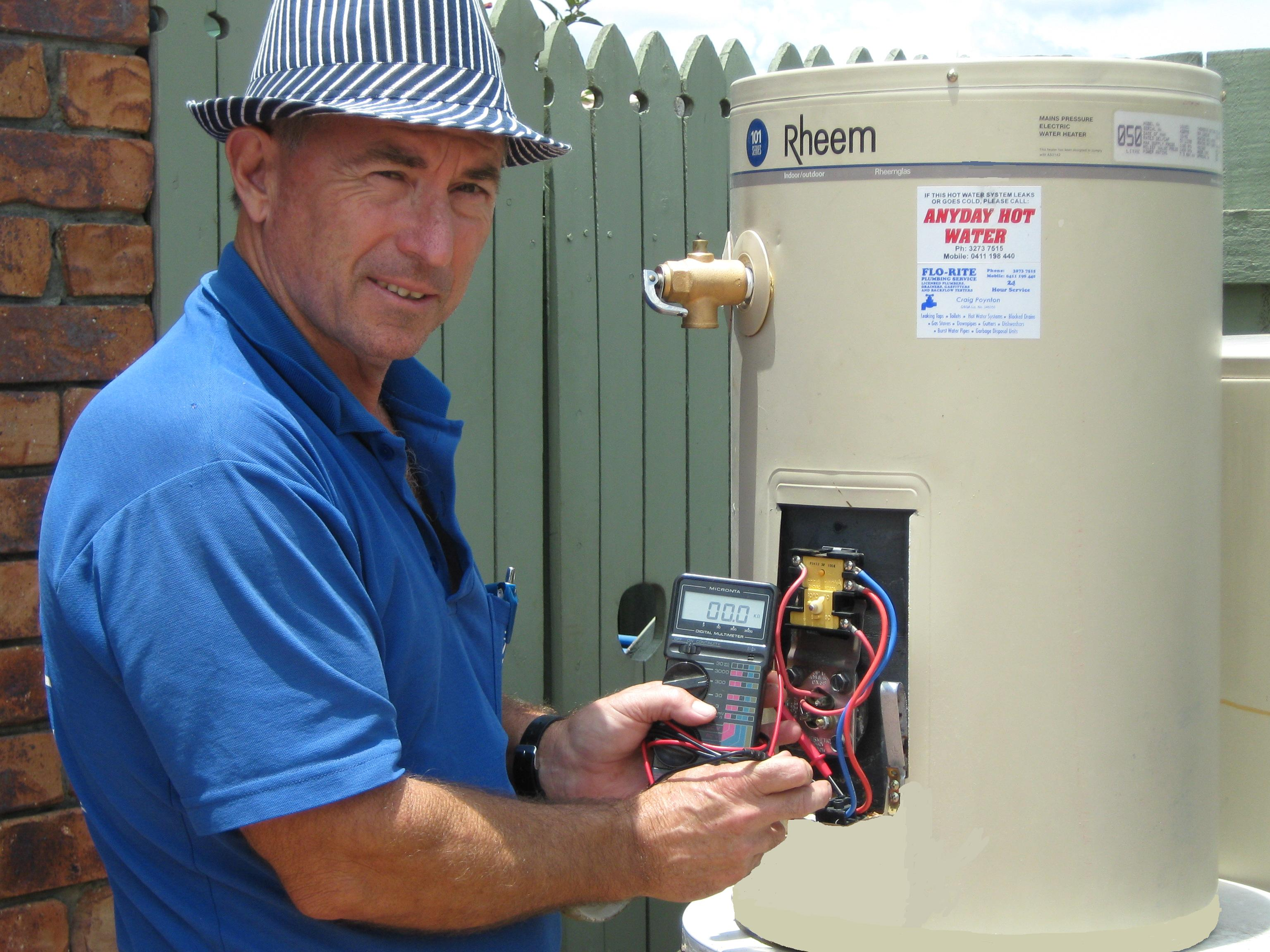 hot water heating elements thermostat repairs brisbane gold coast