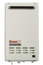 rheem continuous flow gas hot water heaters 18 litre, 20 litre, 24 litre, 27 litre models