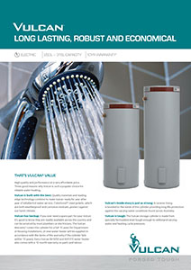 Vulcan Electric Hot Water Systems, Hot Water Heaters Brisbane